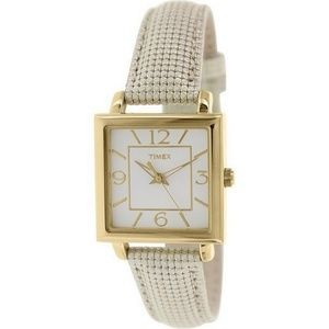 Timex T2P379 Women's Classics Gold Leather Band Wi